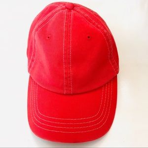Lake of the Isles Isotoner Red Strap Back Ball Cap